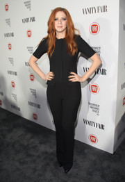 Rachelle Lefevre donned a retro-chic black jumpsuit for the Fiat Young Hollywood celebration.