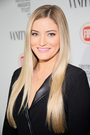 Justine Ezarik looked radiant with her long blonde locks at the Fiat Young Hollywood celebration.