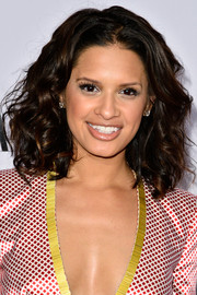 Rocsi Diaz attended the Vanity Fair Campaign Hollywood kickoff wearing big, bouncy curls.