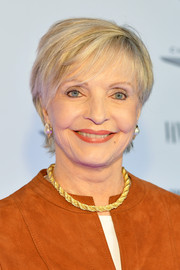 Florence Henderson kept it breezy yet chic with this short side-parted 'do at the Vanity Fair Campaign Hollywood.