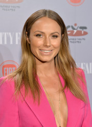Stacy Keibler wore her hair with a center part and just a hint of a wave during the Young Hollywood celebration.