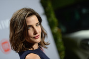 Cobie Smulders left her hair loose with tousled waves when she attended the Young Hollywood celebration.