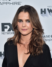 Keri Russell looked fabulous with her richly textured waves at the Vanity Fair and FX Emmy nominations party.