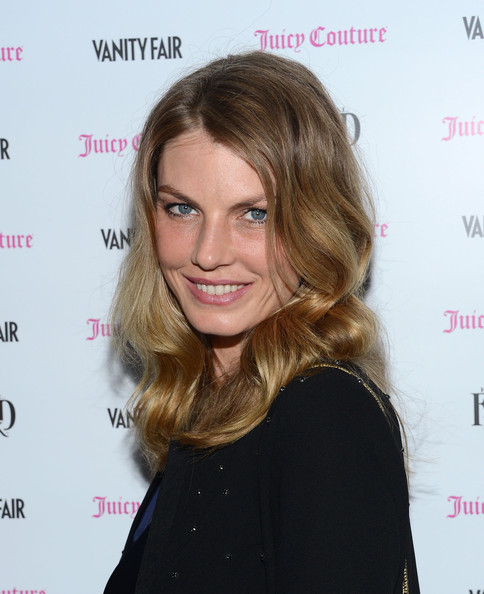 More Pics of Angela Lindvall Medium Wavy Cut (1 of 4) - Shoulder Length Hairstyles Lookbook - StyleBistro