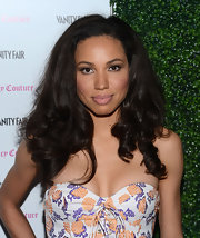 Jurnee Smollett's long dark curls were voluminous and uber glamorous at the 2013 Vanities Calendar event.