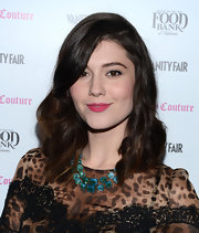 Mary Elizabeth Winstead's pink lips popped against her fair skin and dark brown hair at the 2013 Vanities Calendar celebration.
