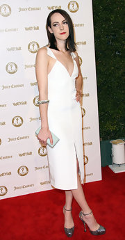 Jena Malone wore this white cocktail dress to the Vanity Fair anniversary party.