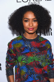 Yara Shahidi looked fab with her parted afro at the Toast to Young Hollywood event.