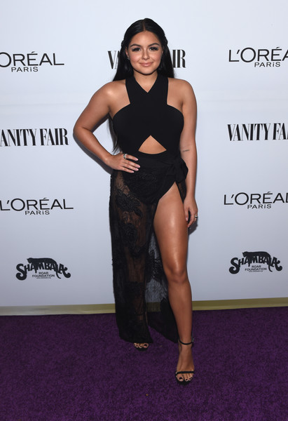 Ariel Winter looked ready for the beach in a her sheer black House Of CB sarong.