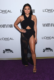 Ariel Winter attended the Toast to Young Hollywood event looking extra racy in a black cutout bodysuit by Cosabella.