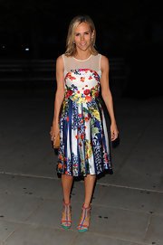 Tory Burch was a colorful beauty in an Erdem cocktail dress for the Vanity Fair Tribeca Film Festival party.