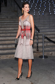 The always elegant Ivanka Trump wore this artistic cocktail dress to the 'Vanity Fair' Tribeca Film Festival party.