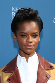 Letitia Wright attended the Newport Beach Film Festival Fall Honors wearing her hair in a cool fauxhawk.