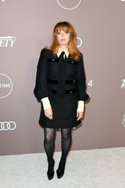 Natasha Lyonne completed her all-black look with a pair of platform pumps, also by Gucci.