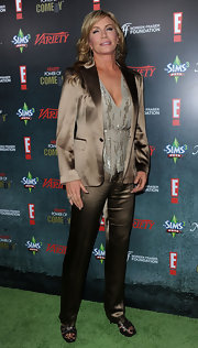 Shannon Tweed stepped out at Variety's Power of Comedy event wearing a satin blazer.