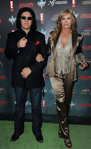 Shannon Tweed sparkled in a sequined wrap-top at the Annual Power Comedy Event.