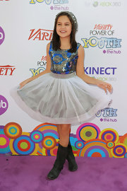 Bailee Madison flaunted her beautiful sequined dress at the Annual Power of Youth event.