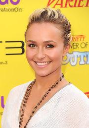 Hayden Panettiere kept her makeup soft and bronze-y with a hint of pearly lipgloss at the 'Variety' 5th Annual Power of Youth Event.