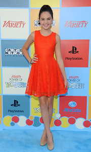 Bailee Madison stepped out at the Power of Youth event wearing a pretty lace dress.