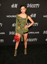 Jenna Ortega was tough-chic in a military-inspired asymmetrical top by Marissa Webb at Variety's Power of Young Hollywood event.