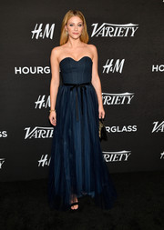 Lili Reinhart charmed in a strapless navy corset gown by H&M at Variety's Power of Young Hollywood event.