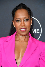 Regina King styled her hair into a partially braided ponytail for Variety's Power of Women Los Angeles event.