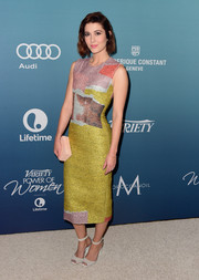 Sci-fi favorite Mary Elizabeth Winstead carried a pretty box clutch to Variety's 'Power of Women' luncheon.