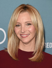 Lisa Kudrow wore her hair down to her shoulders with just a bit of an undercurl for the Power of Women luncheon.