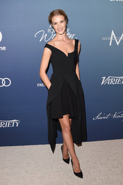 Rosie Huntington-Whiteley chose an asymmetrical LBD by Stella McCartney for Variety's Power of Women luncheon.