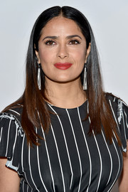 Salma Hayek sported a no-frills center-parted 'do at the Variety Power of Women event.