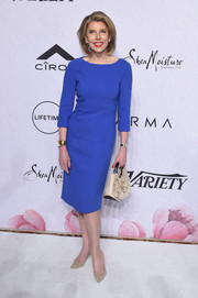 Christine Baranski kept it classy in a cobalt sheath dress at Variety's Power of Women: New York.