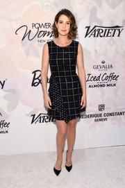 Cobie Smulders chose a cute polka-dot and grid-print mini dress for the Variety Power of Women event.