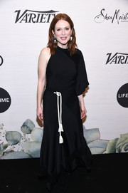 Julianne Moore went modern in a one-sleeve black gown by Chloe at Variety's Power of Women: New York.