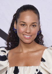 Alicia Keys sported a curly ponytail when she attended Variety's Power of Women: New York.