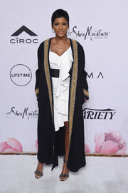 Tamron Hall glammed it up in an embellished black opera coat at Variety's Power of Women: New York.