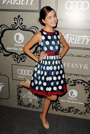 Bailee Madison posed like a lady in her polka-dot dress at the Variety Power of Women event.