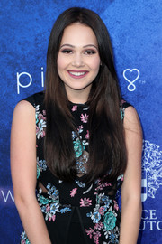 Kelli Berglund framed her pretty face with ultra-long center-parted locks for Variety's Power of Young Hollywood event.