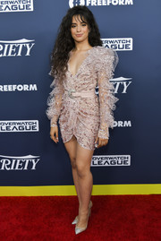 Camila Cabello went for flirty glamour in a sequined and ruffled mini dress by Zuhair Murad Couture at the Variety Power of Young Hollywood event.