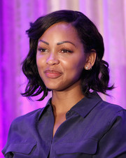 Meagan Good showed off a sweet curly 'do at the 2015 Purpose: The Family Entertainment & Faith-Based Summit.