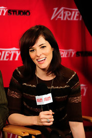 Parker Posey wore her layered shoulder-length cut with wispy bangs during the 2012 Sundance Film Festival.
