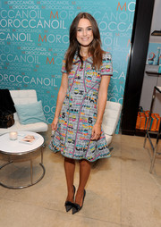 Keira Knightley donned a colorful Chanel tweed dress for her visit to the Variety Studio.