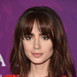 Lily Collins' Medium Cut