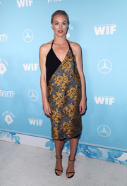 Yvonne Strahovski was beach-chic in a floral halter dress by Public School at the Variety and Women in Film pre-Emmy celebration.