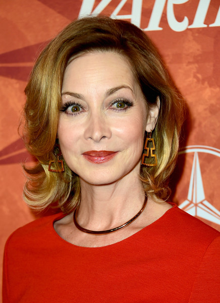 Sharon Lawrence framed her face with a feathery bob for the Variety and Women in Film pre-Emmy celebration.