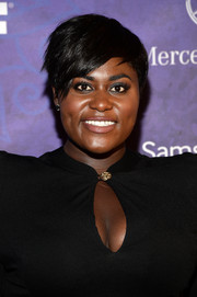 Danielle Brooks attended the Variety and Women in Film Emmy nominee celebration wearing her hair in an edgy pixie.