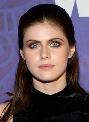Alexandra Daddario opted for a no-frills half-up 'do when she attended the Variety and Women in Film Emmy nominee celebration.