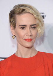 Sarah Paulson sported a punky half-pinned 'do at the Variety and Women in Film pre-Emmy celebration.