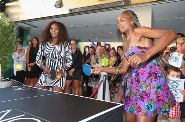 Williams Sisters Table Tennis Play Off