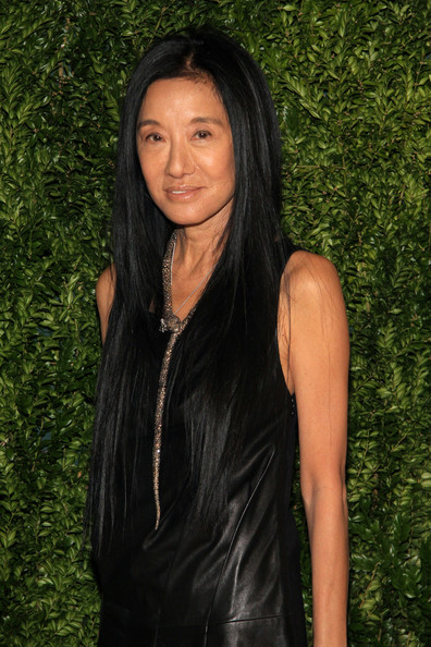 Vera Wang Long Straight Cut [hair,black hair,hairstyle,long hair,beauty,smile,lip,layered hair,brown hair,photography,vera wang,arrivals,new york city,cfda,spring studios,fashion fund finalists celebration,vogue 2013 fashion fund finalists celebration]