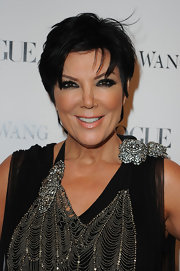 Mama Kardashian Kris Jenner displayed her signature cropped mane at the celebrity packed Vera Wang launch.